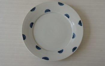 九谷青窯 半菊7.5寸皿
