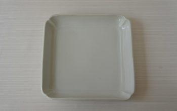 九谷青窯 白磁四方皿