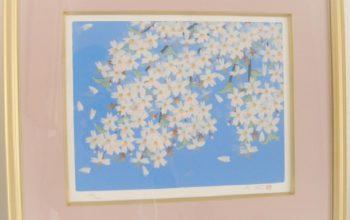 版画 中島千波「桜」5号